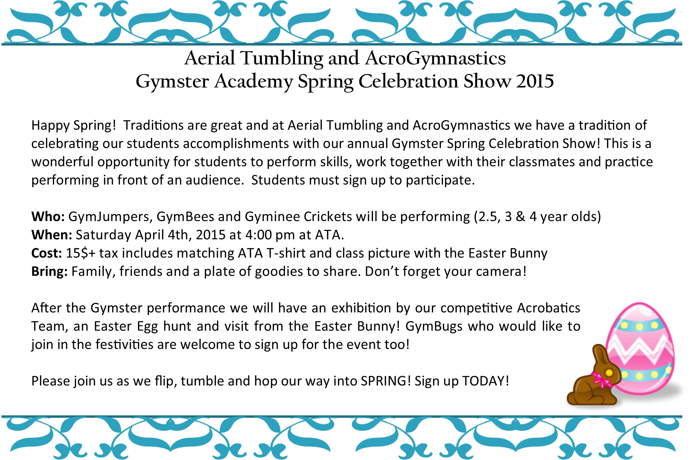 2015 gymster spring show